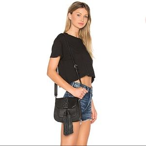 Rebecca Minkoff Isobel Saddle Bag in Black